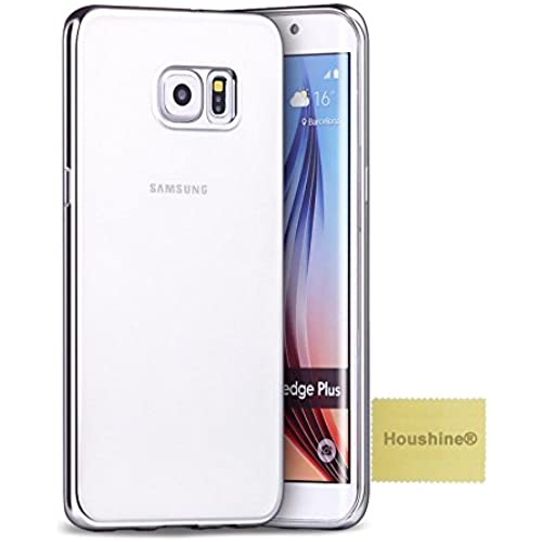 Galaxy S7 case(Plate Bumper Clear Cover), Houshine Premium Electroplate Bumper Soft TPU Clear Back Cover Case for Samsung Galaxy S7, Silver Bumper Clear Sales