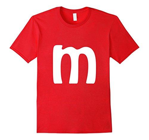 Minute Man Costume (Mens M Letter Brilliant Last Minute Halloween Costume T-shirt XL Red)