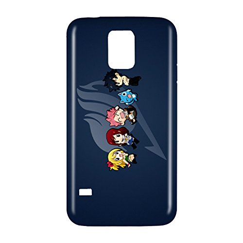Fairy Tail Chibi Snap on Plastic Case Cover Compatible with Samsung Galaxy S5 GS5 (Tail Galaxy S5 Fairy)