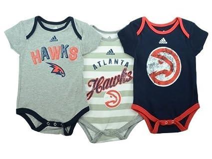 f5bd6f4b4 Atlanta Hawks Infants Baby NBA Creeper  quot 3 Point quot  Bodysuit Set ...