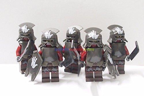 [Minifigures 5 x Uruk-Hai w Sword Armor Shield] (Female Adventurer Costume Ideas)