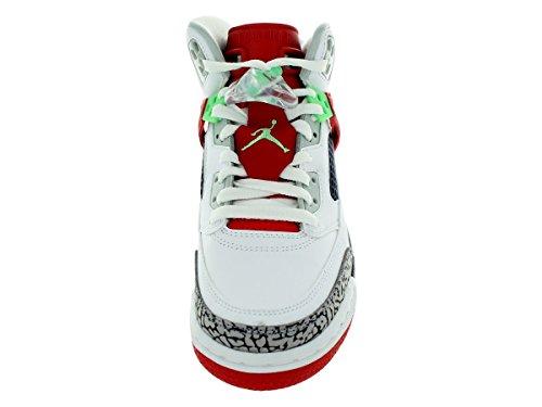 Nike Jordan Spizike BG Jugend Sneaker aus Wildleder White/ Lt Psn Grn-Unvrsty Rd-Gr