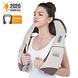 Hueplus CORDZERO-5500 Cordless Premium Shiatsu Back, Neck and Shoulder Massager, Deep Kneading Massage Pillow with Heated 3D Tension Technology