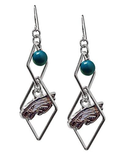 (NFL Philadelphia Eagles Triangle Logo Dangler Earrings)