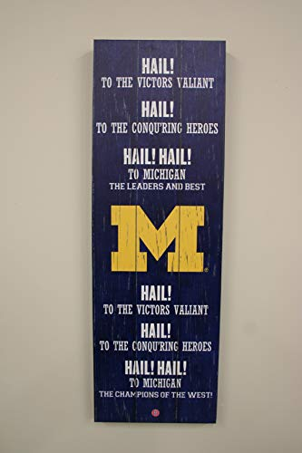 Michigan Wolverines NCAA Fight Song 12x36 Artissimo Canvas Art