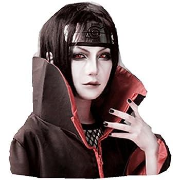Amazon.com: Peluca de Naruto ITACHI Negro cosplay disfraz ...