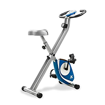 XTERRA Fitness FB150 Folding Exercise Bike, Silver,...