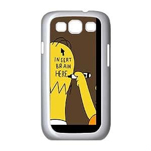 Samsung Galaxy S3 9300 Cell Phone Case White_Insert Brain Simpsons Ddnuz