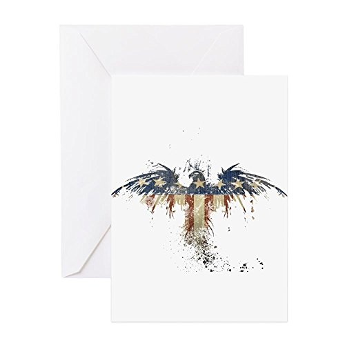 CafePress - American Eagle - Greeting Card (20-pack), Note Card with Blank Inside, Birthday Card Glossy (Card Note Americana)