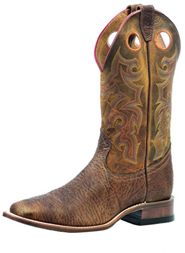 n Cowboy Boot Wide Square Toe Crazyhorse 12 D(M) US (Boulet Mens Medium Square)