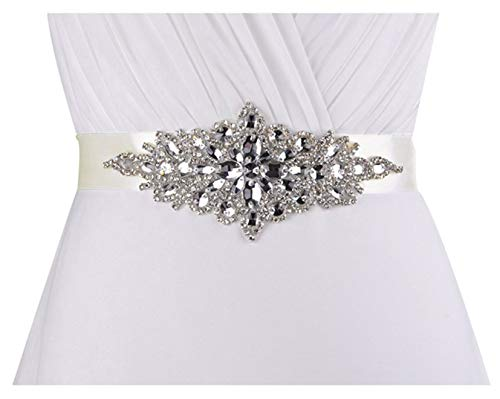 Ladies Wide Sash - Lovful Ladys Rhinestone Crystal Sash Wedding Belt For Party Evening Dresses