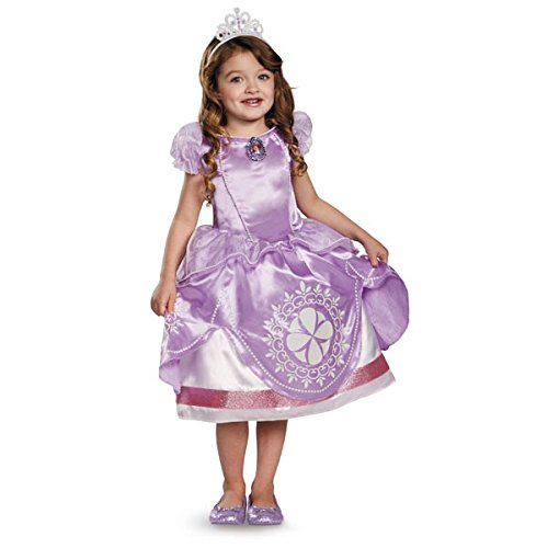 Sophia And Grace Halloween Costume (Disguise Disney Sofia The First Light-Up Motion-Activated Girls Costume,)