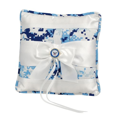 Jamie Lynn Digital Military Collection, Ring Pillow, Blue, Navy
