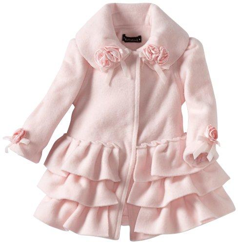 Kate Mack Baby-Girls Newborn Left Bank Ruffle Coat