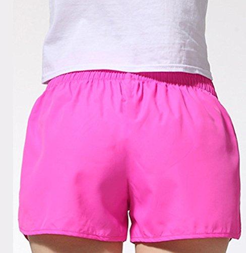 Shorts Vita Sport Estivi Donna Tinta Alta HaiDean Giovane Casual Basic Rosa Corti Hippie Unita Pantaloncini Pantaloni UqfBdxw