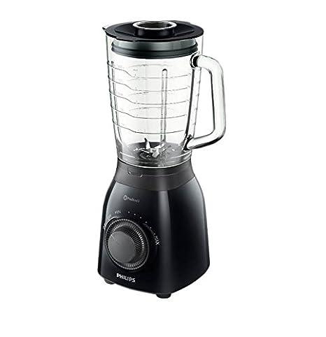 Philips HR2173/90 Batidora de vaso, 600 W, 2 l, 2 litros, Plástico, 2 Velocidades, Negro y gris