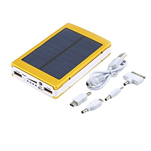 Gold 80000mAh two USB compact Solar Battery Charger power Bank For Cell Phone