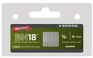 BN1810 unidades 500 clavos de 15 mm (Arrow BN1810)
