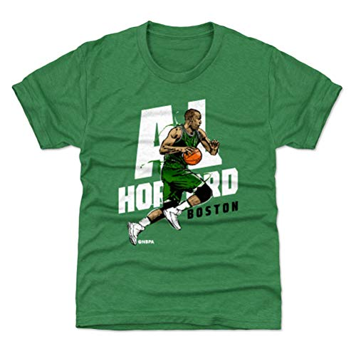 500 LEVEL Boston Basketball Youth Shirt - Kids X-Large (14-16Y) Heather Kelly Green - Al Horford Drive W WHT