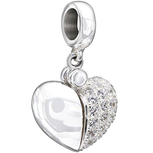 Chamilia Swarovski Zirconia Secret Message Heart Locket Bead Charm ()