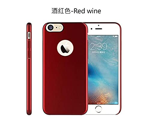 Resistance Protection Hard PC Injection Coated Case For iPhone 7 7 Plus (iphone7plus, Red Wine) (Alcatel Android 4g Fierce 2)