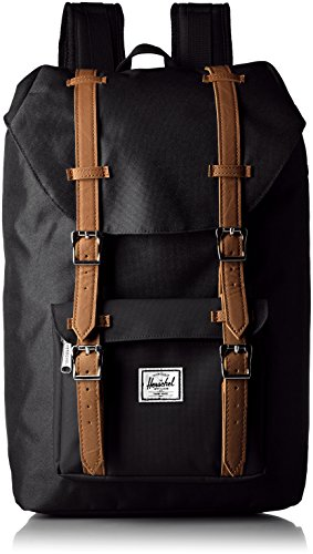 Herschel Supply Co. Little America Mid Volume, Black, One Size