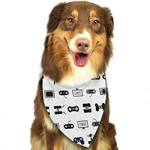 Video Games White Dog Bandana - Small Medium and Large Bandanas for Every Occasion Or Holiday - Easy to Tie On Your Cats Or Dogs Or Puppy - Comfortable and Stylish Pet Accessories]()