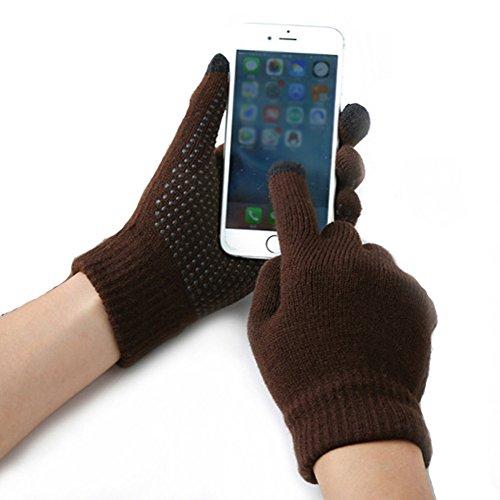 Men's Women's Winter Fashion Warmth Sport Touch screen Gloves Screen Gloves Warm Knit Gloves
