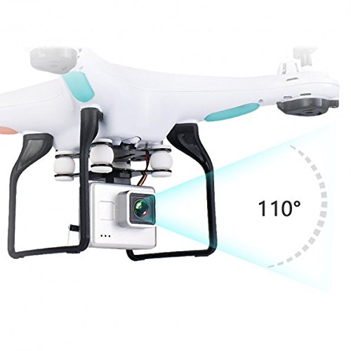LTC SG600 2.4G WIFI FPV RC Mini Drone with 720P 2MP 110° Wide Angle Removable HD Camera Live Video, Altitude Hold, Headless Mode, Foldable Blades Quadcopter with Two Batteries for Beginners by LTC