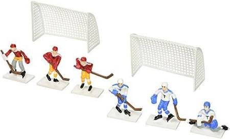 Hockey Players with 2 Goals Cake Topper Decoration -