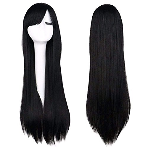 gs Cosplay Long Black Wig (Straight) ()