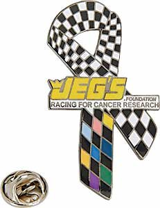 JEGS Apparel and Collectibles RIBBON-NL Racing for Cancer Research Pin