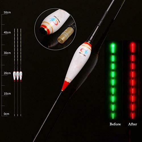 Abracing Flotteurs de p/êche intelligents Les flotteurs de p/êche de Nuit Lumineux rappellent automatiquement Le Flotteur de Poisson