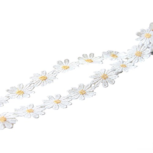- Qianle 5 Yards Daisy Sun Flower Pattern Lace DIY Ribbon Art Crafts Tape for Decoration 0.98 inch Width