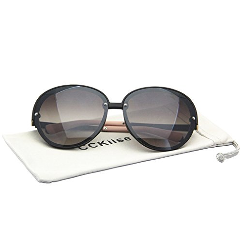 Round No Frame Women Sunglasses with Case,Super Fashion Special Cat Eye - Round For Sunglasses Face Of Type