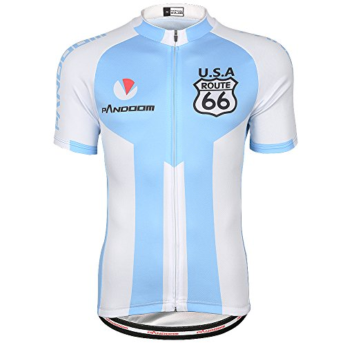 PANDOOM Men's Breathable Short Sleeve Cycling Jersey Quick Dry Biking Shirts For Outdoor Sports Size - Cycling Custom Jerseys