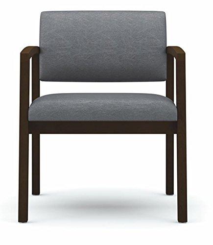 - Lesro Lenox Oversize Reception Chair 400 lbs Capacity, Cherry Finish, Core Macro Fabric
