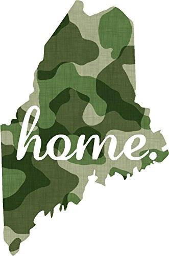 Maine #2 Home USA military camo print 3.9x5.6 inches america united states marine us coast guard navy seals air force pow mia color sticker state decal vinyl - Made and Shipped in USA