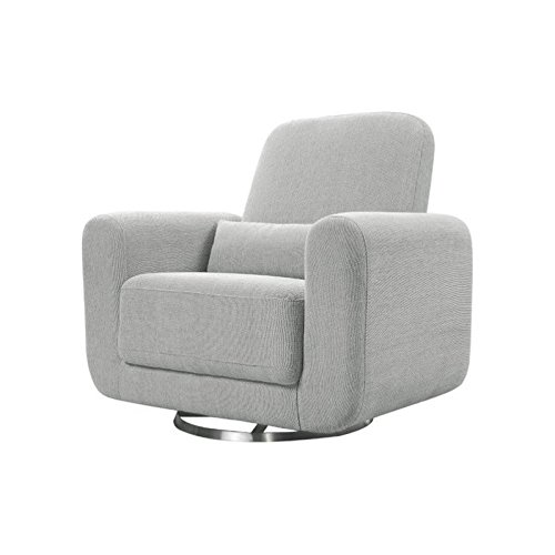 Babyletto Tuba Extra Wide Swivel Glider, Winter Grey Weave