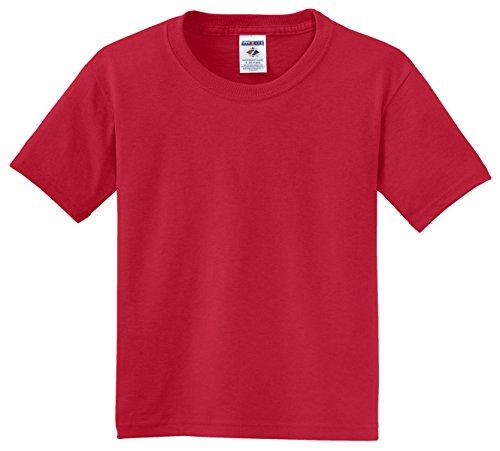 Jerzees Youth 5.6 oz.; 50/50 Heavyweight Blend� T-Shirt - TRUE RED - XS (T-shirt Red Youth Heavyweight)