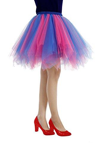 Bridesmay Partito Cosplay Ballerina Tutu Pink Vintage Sottogonne Gonna Donna Breve qEwrBqH