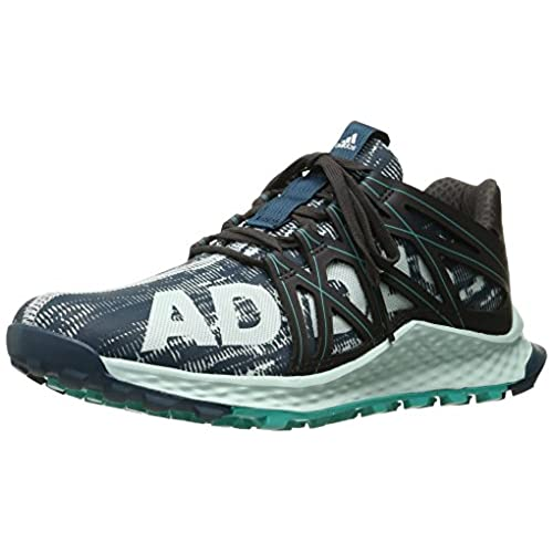 adidas Performance Women's Vigor Bounce w Running Shoe, Utility Green  F16/Ice Mint F16/Utility Black F16, 8 M US