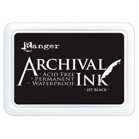 Better Crafts INK PAD JET BLACK ARCHIVAL DYE PERMANENT WATERPROOF RANGER (3 pack) (Archival Waterproof Dye Ink Pad)