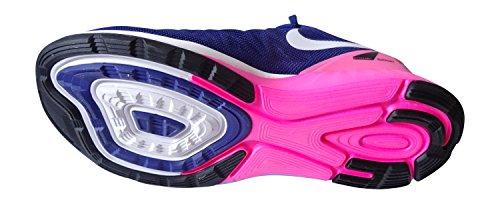 Nike Lunarglide 6 654434-500 Damen Laufschuhe Diepe Koninklijke-blauw / Wit / Hyper-roze