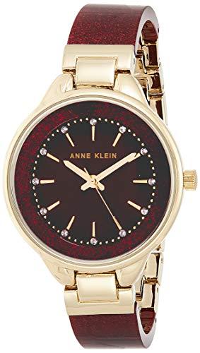 : Anne Klein Women's Swarovski Crystal Accented Resin Bangle Watch