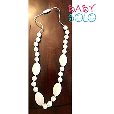Baby Solo Baby Teething Necklace for Mom | 100% BPA Free | Safe Way to Reduce Baby Pain | Comfortable to Wear & Fashionable | Promotes Healthy Teeth Development | Better Sleep for Baby (Pearly White) : Baby