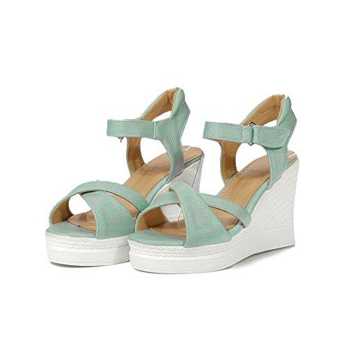 AN Womens Platforms-Sandals Firm-Ground Oversized Urethane Platforms Sandals DIU00840 Blue vaoiaIQz