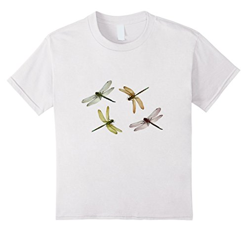 Kids Dragonflies T-Shirt Flying Dragonfly Insects 12 White
