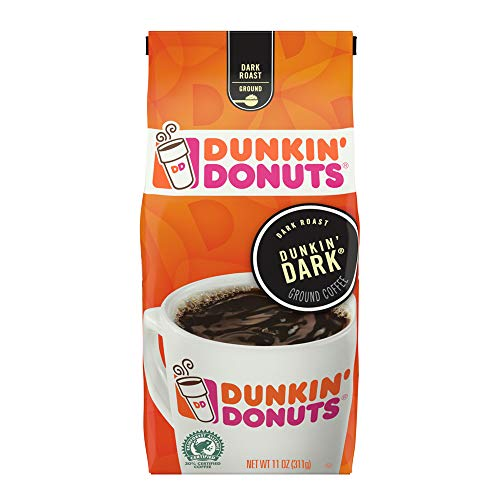 (Dunkin' Donuts Dunkin' Dark Ground Coffee, Dark Roast, 11 Ounce)