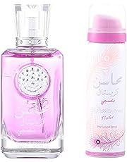 Mahasin Crystal Violet (Ladies 100 ml EDP + Deodorant) Lattafa